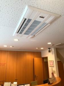 待合室のエアコン